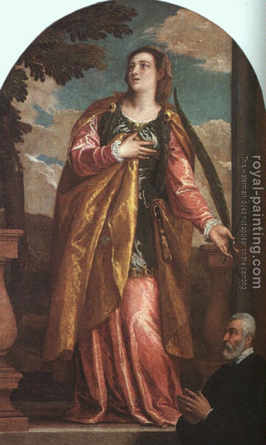 Paolo Veronese : St. Lucy and a Donor