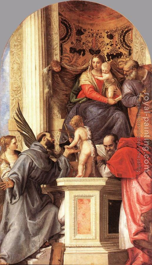 Paolo Veronese : Madonna Enthroned with Saints