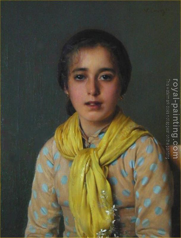 Vittorio Matteo Corcos : Girl with Yellow Shawl