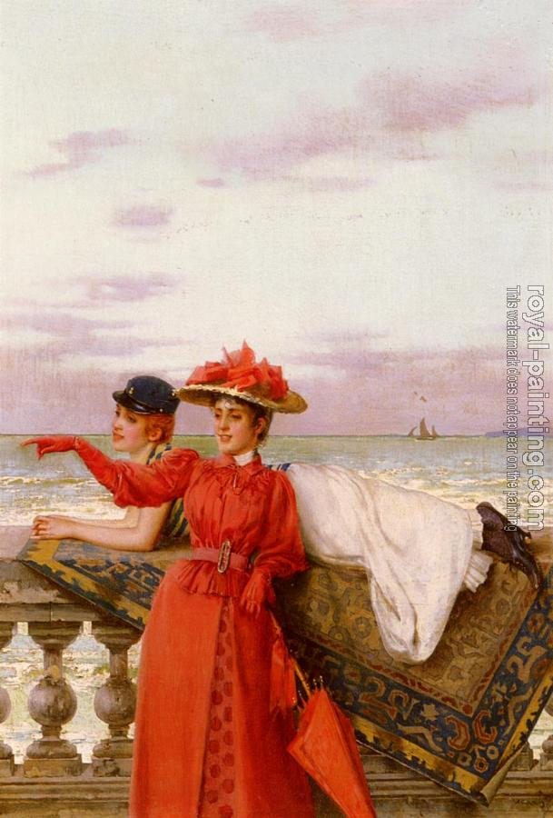 Vittorio Matteo Corcos : Looking Out To Sea