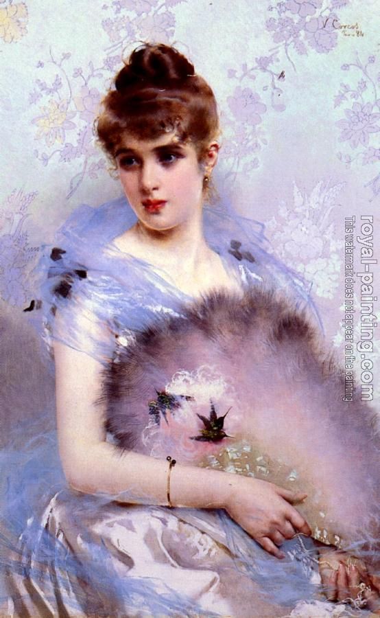 Vittorio Matteo Corcos : The Featherbed Fan