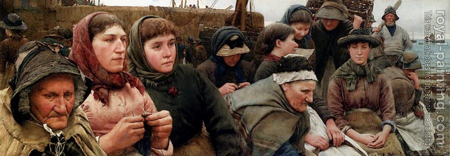 Walter Langley : Waiting For The Boats