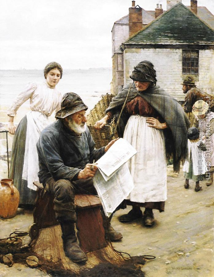 Walter Langley : When the Boats are Away