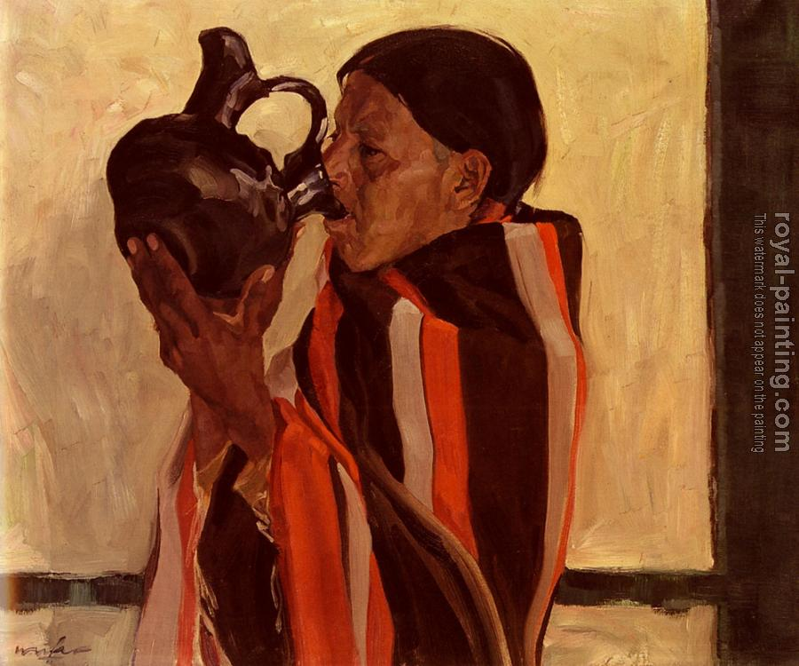 Walter Ufer : Taos Indian Drinking