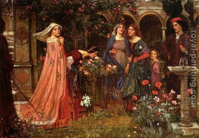 John William Waterhouse : The Enchanted Garden