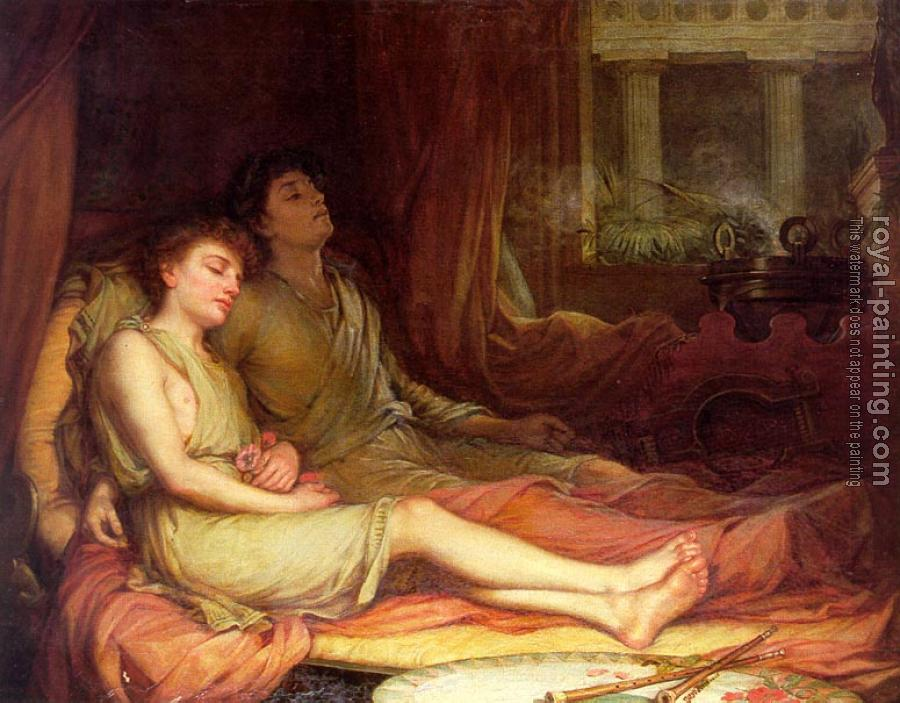 John William Waterhouse : Sleep and His Half Brother Death