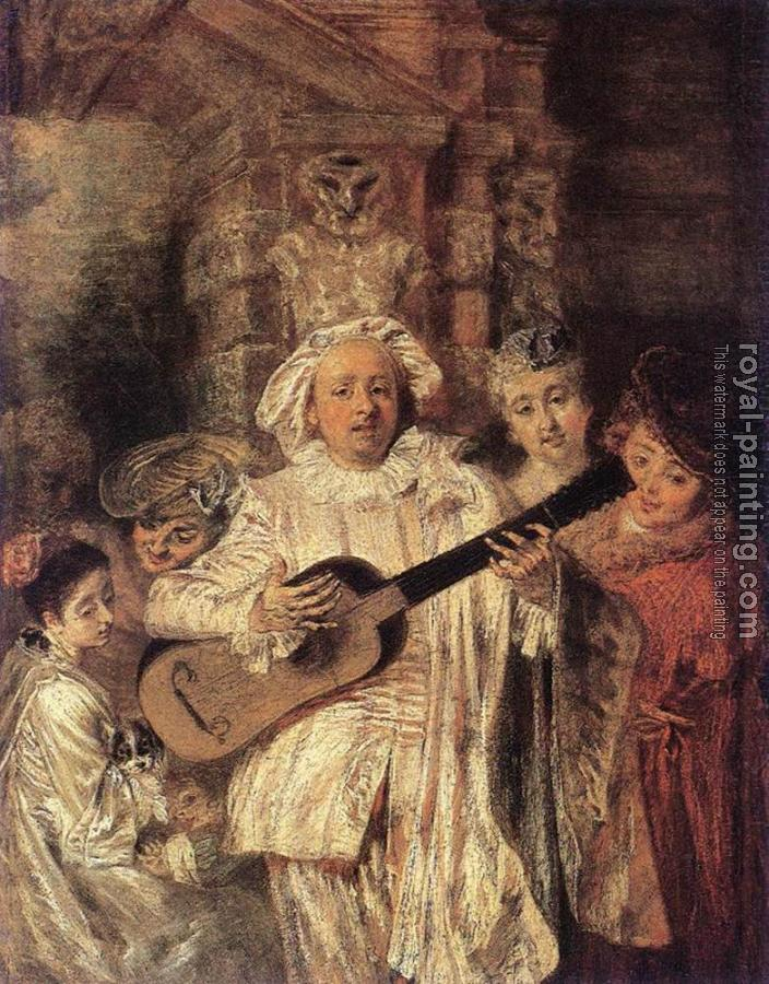 Jean-Antoine Watteau : Gilles and his Family