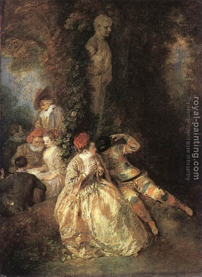 Jean-Antoine Watteau : Harlequin and Columbine