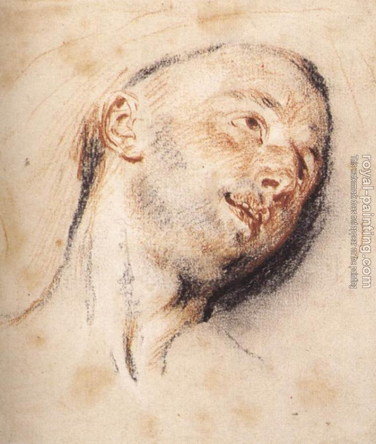Jean-Antoine Watteau : Head of a Man