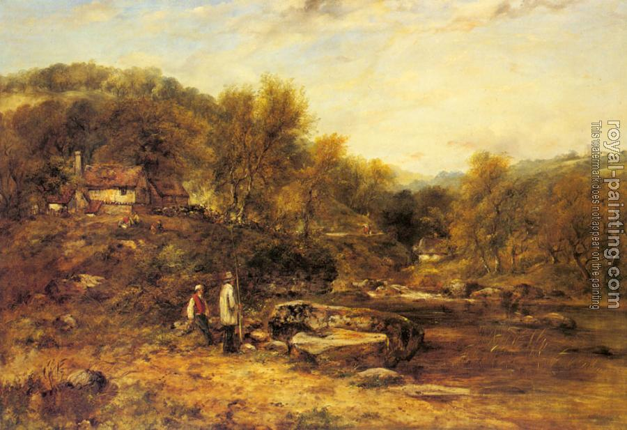 Frederick Waters Watts : Anglers By A Stream