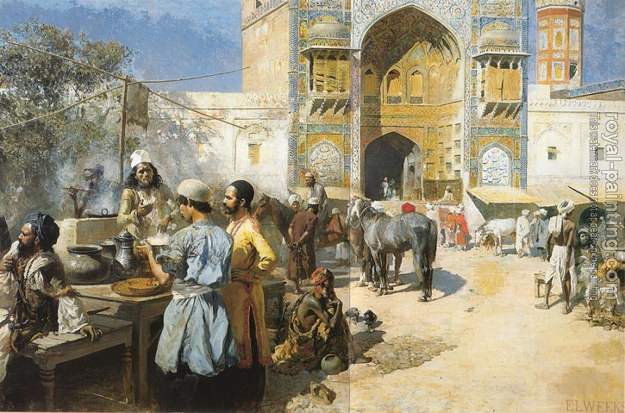 Edwin Lord Weeks : An Open-Air Restaurant Lahore