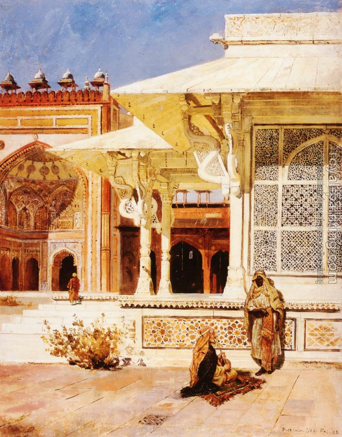 Edwin Lord Weeks : White Marble Tomb at Suittitor Skiri