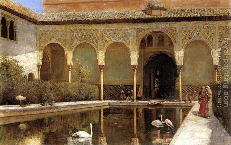 Edwin Lord Weeks : A Court in The Alhambra in the Time of the Moors