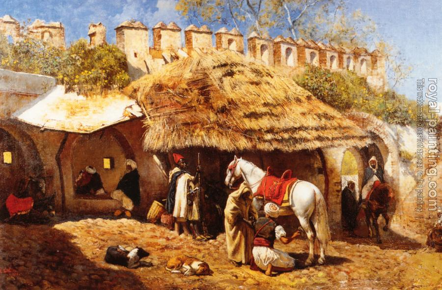 Edwin Lord Weeks : Blacksmith Shop at Tangiers