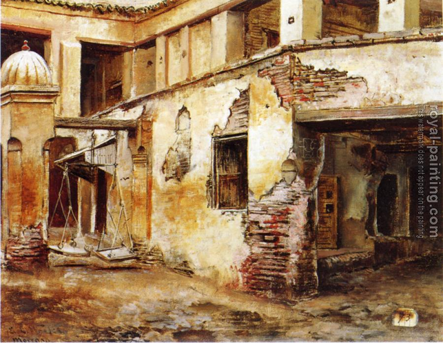Edwin Lord Weeks : Courtyard in Morocco