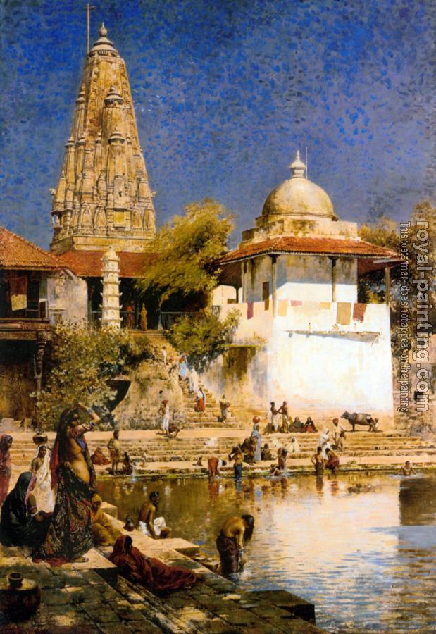 Edwin Lord Weeks : The Temple and Tank of Walkeschwar at Bombay