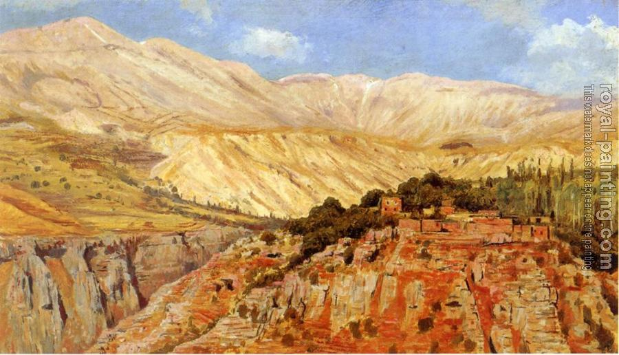 Edwin Lord Weeks : Village in Atlas Mountains Morocco