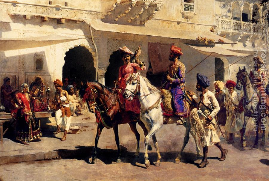 Edwin Lord Weeks : Leaving for the Hunt at Gwalior