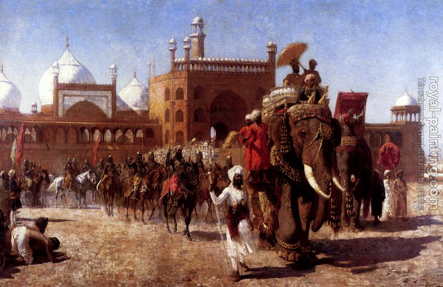 Edwin Lord Weeks : The Return of the Imperial Court from the Great Mosque At Delhi in the Reign of Shah Jehan