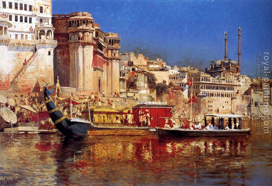 Edwin Lord Weeks : The Barge of the Maharaja of Benares