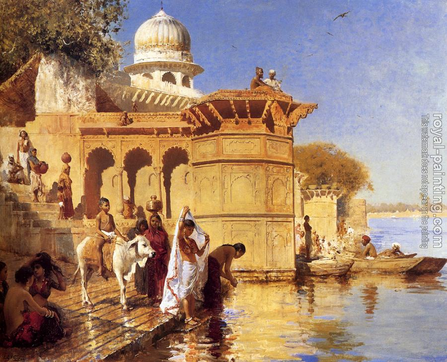 Edwin Lord Weeks : Along the Ghats Mathura