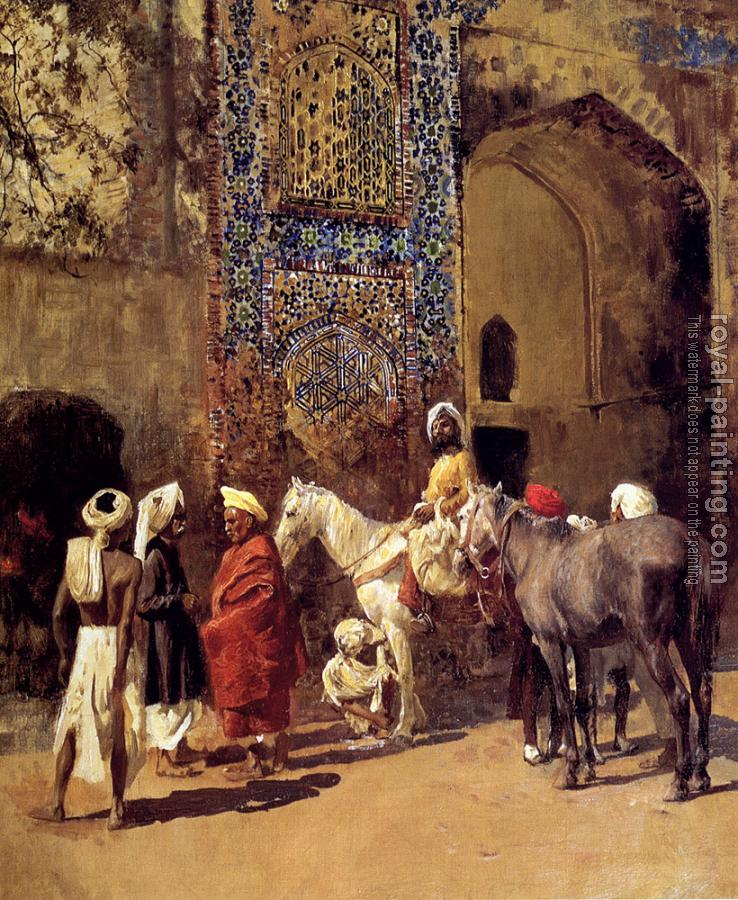 Edwin Lord Weeks : Blue Tiled Mosque at Delhi India