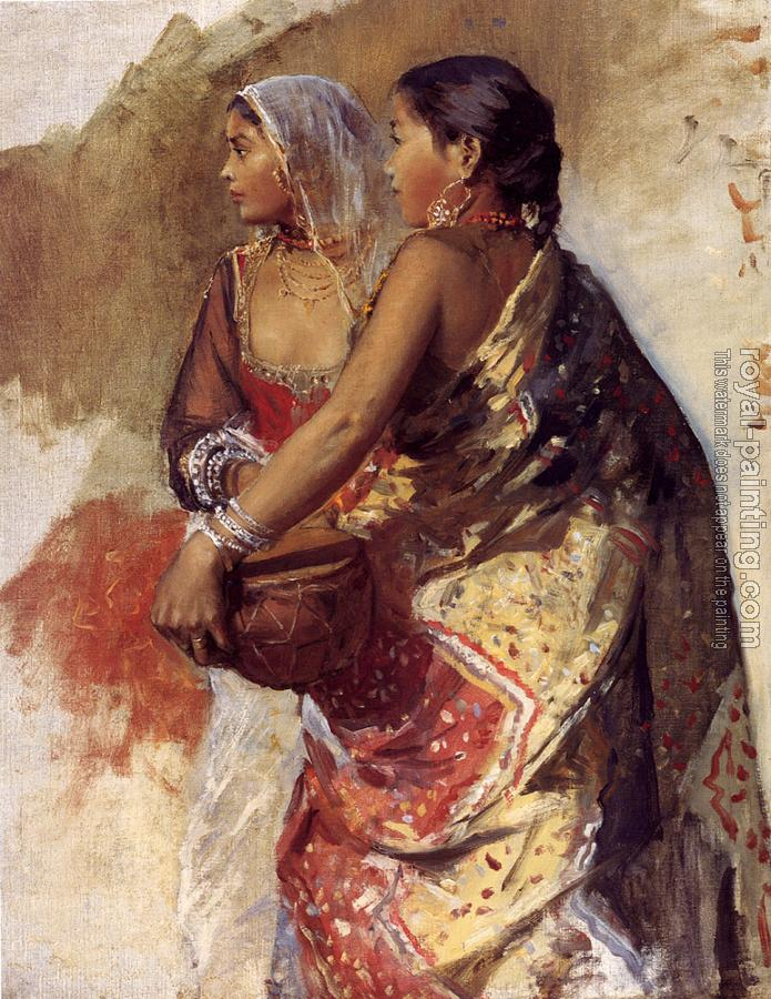 Edwin Lord Weeks : Sketch Two Nautch Girls