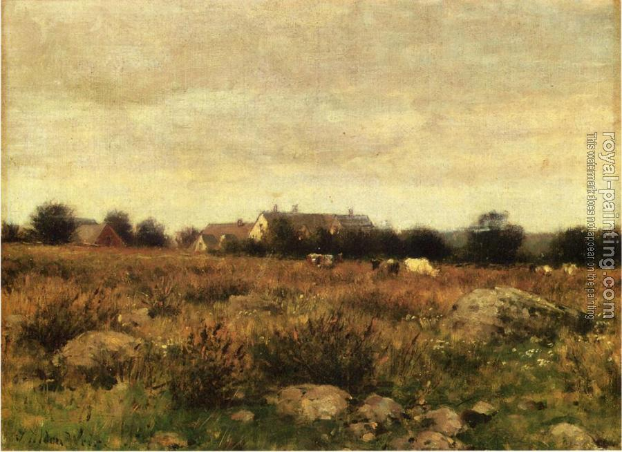 Julian Alden Weir : Houses in Pasture