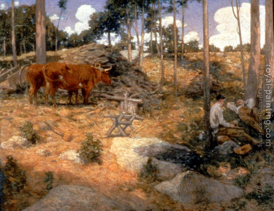 Julian Alden Weir : Noonday Rest In New England