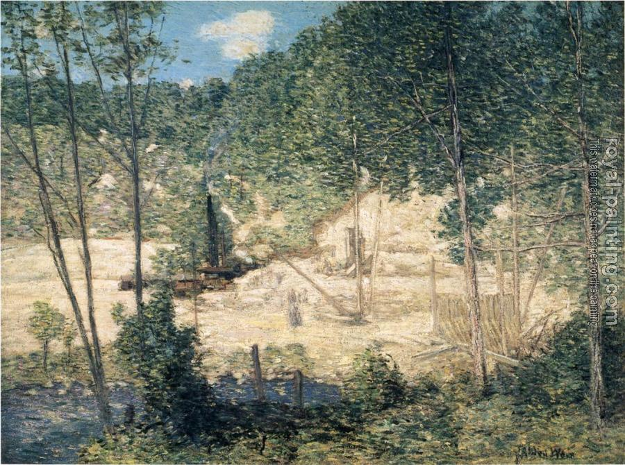 Julian Alden Weir : The Building of the Dam