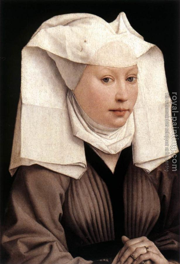 Rogier Van Der Weyden : Lady Wearing a Gauze Headdress