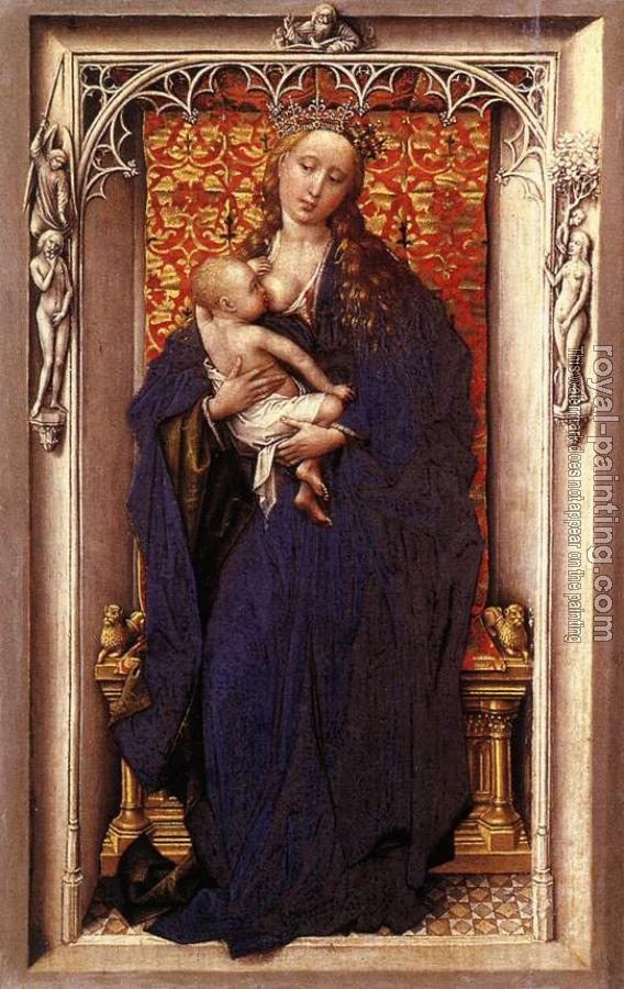 Rogier Van Der Weyden : Madonna and St Catherine of Alexandria, Diptych left