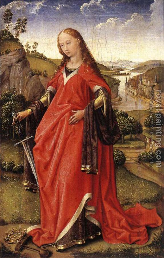 Rogier Van Der Weyden : Madonna and St Catherine of Alexandria, Diptych right
