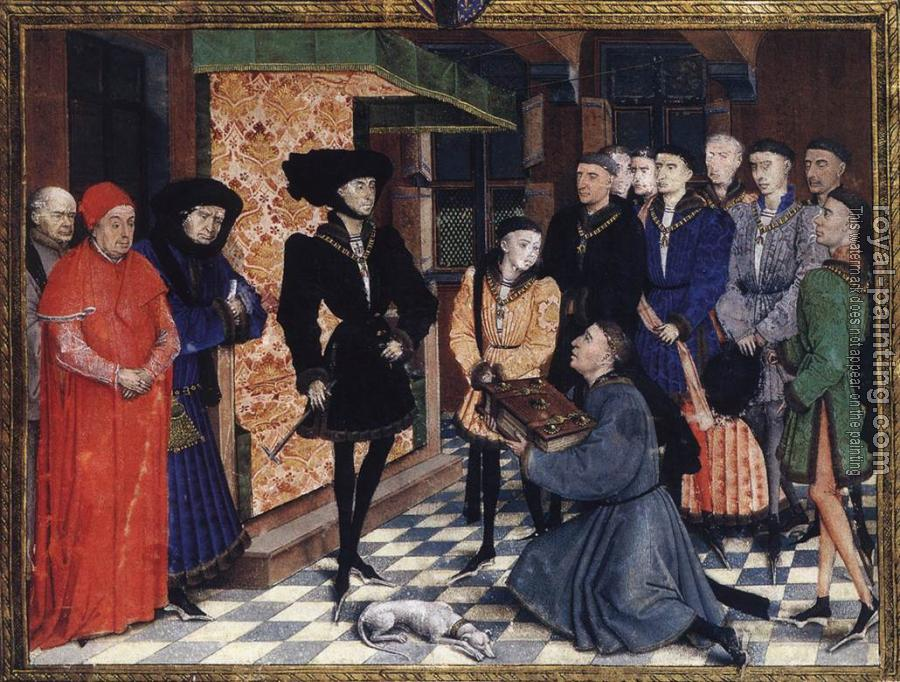Rogier Van Der Weyden : Miniature from the first page of the Chroniques de Hainaut
