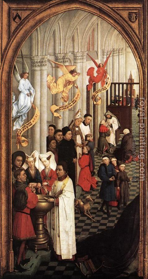 Seven Sacraments Altarpiece, Left Wing