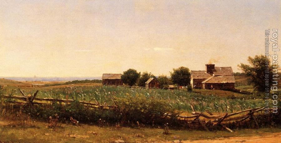 Thomas Worthington Whittredge : Farm by the Shore
