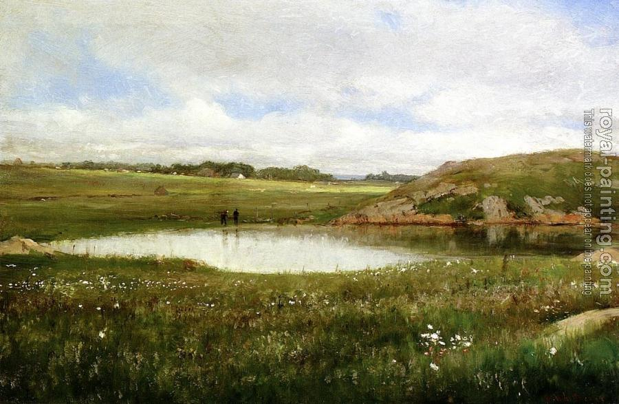 Thomas Worthington Whittredge : Freshwater Pond in Summer-Rhode Island