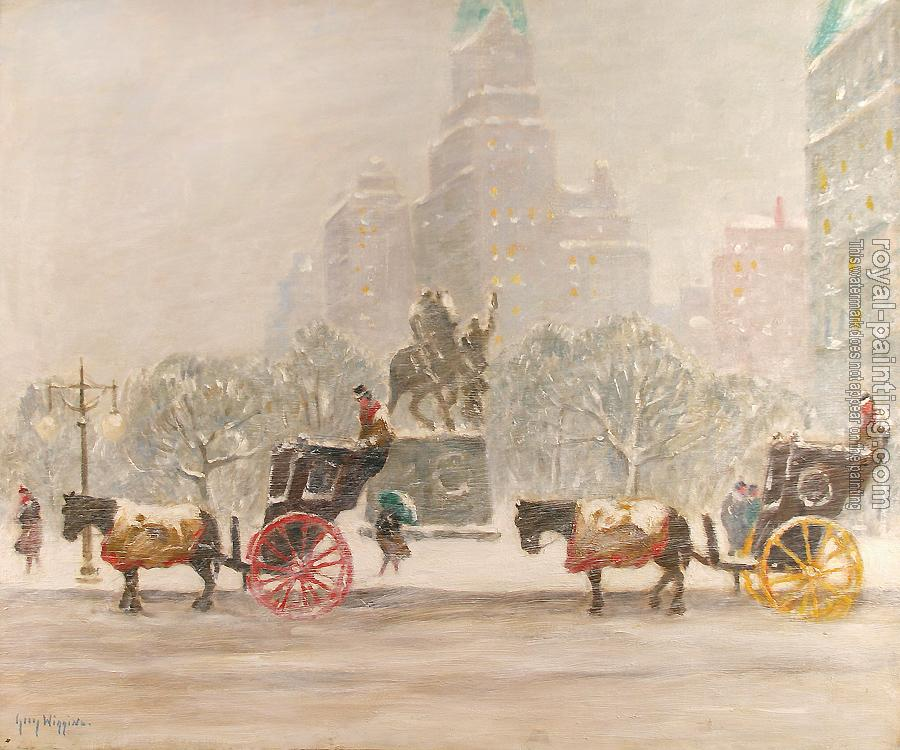 Guy Carleton Wiggins : winter at the plaza