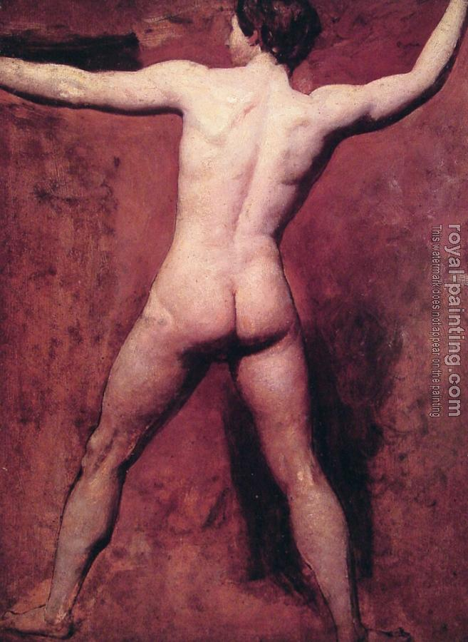 William Etty : Academic male nude