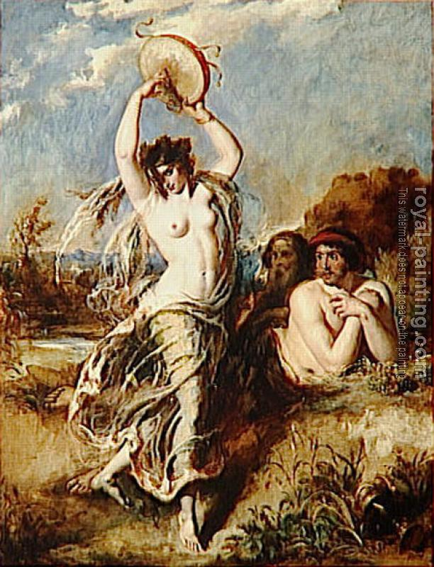 William Etty : Bacchante Playing the Tambourine