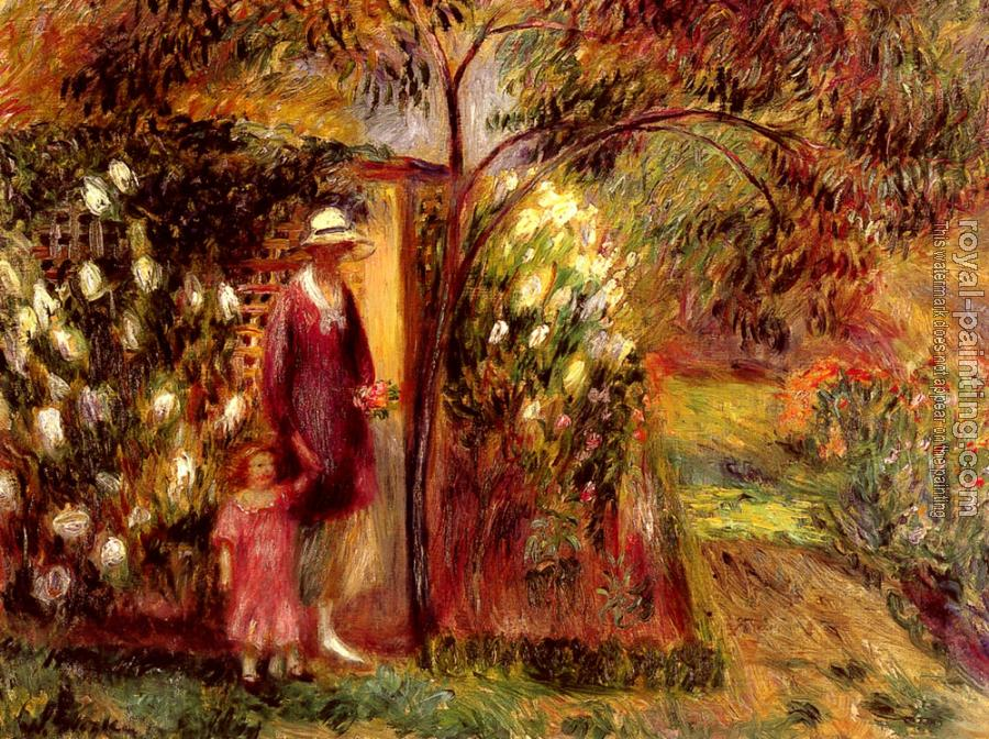 William James Glackens : Two In A Garden