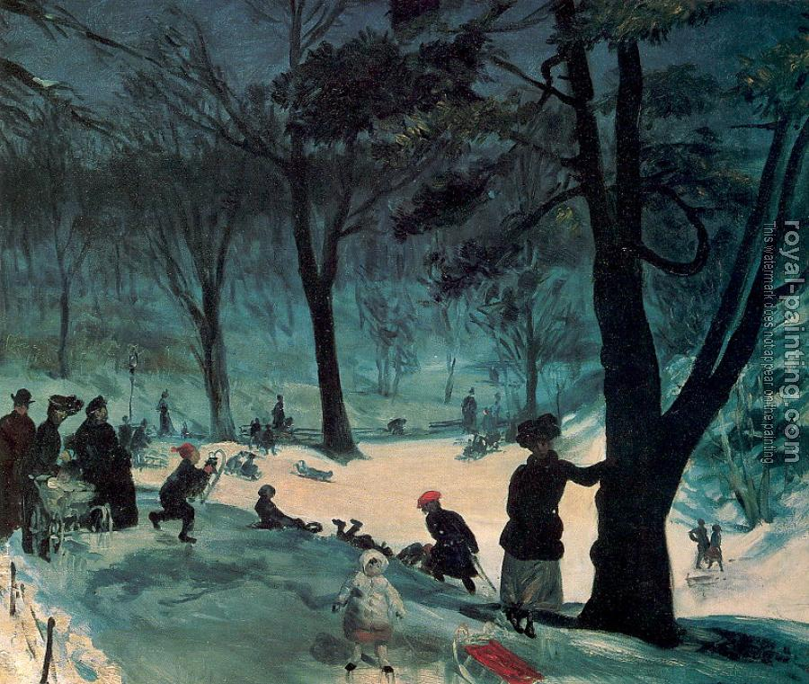 William James Glackens : Central Park Winter