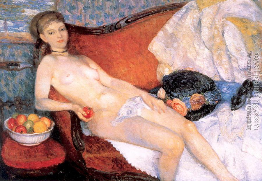 William James Glackens : Nude with Apple
