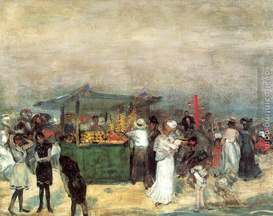 William James Glackens : Fruit Stand,Coney Island