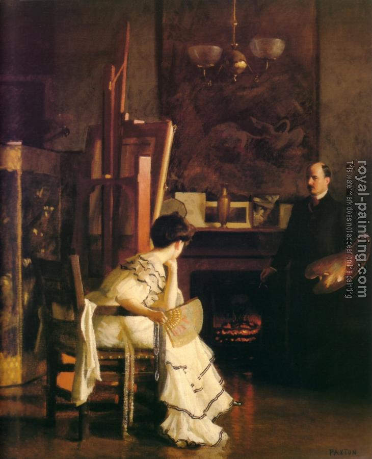 William McGregor Paxton : In The Studio