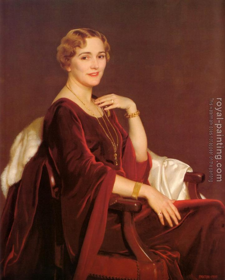 William McGregor Paxton : Portrait Of Mrs Charles Frederic Toppan