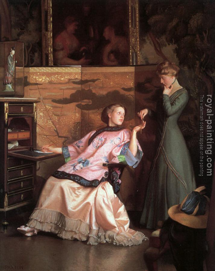 William McGregor Paxton : The New Necklace