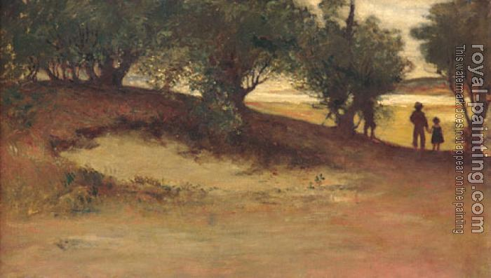 William Morris Hunt : Sand bank With Willows