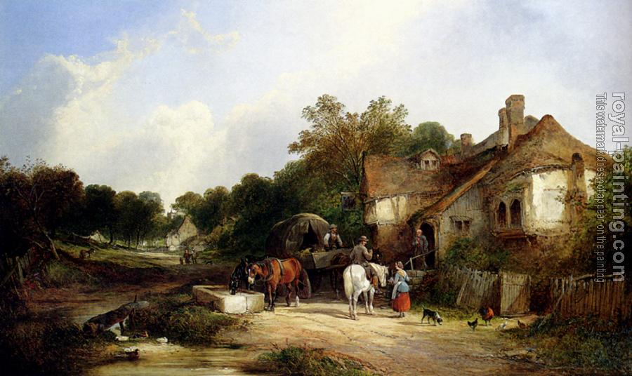 Snr William Shayer : The Road Side Inn Somerset
