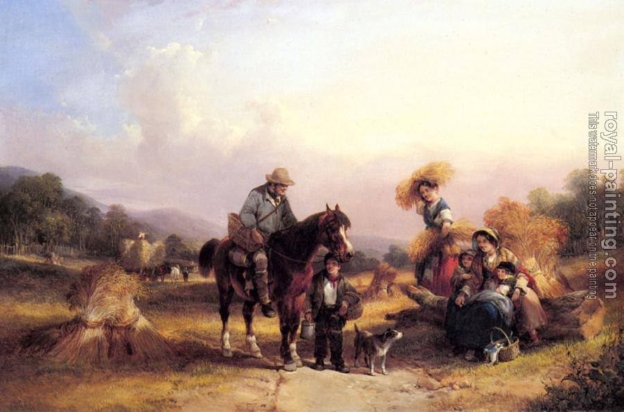 Snr William Shayer : Harvesters Resting